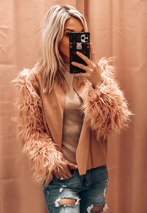 FEELING FANCY JACKET IN DUSTY MAUVE