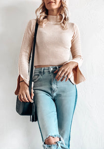 CARRY ON SLIT SLEEVE SWEATER