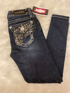 *DOOR BUSTER* L.A. IDOL WING LITTLE GIRLS SKINNY JEANS SZ 7
