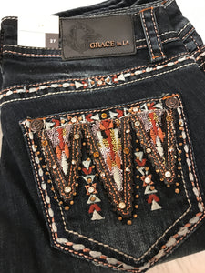 GRACE IN L.A MOUNTAIN TOP BOOTCUT JEANS