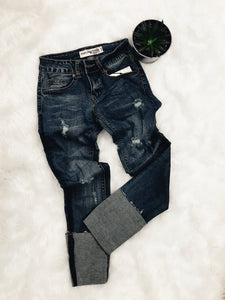 Over And Out Distressed Skinny Jeans