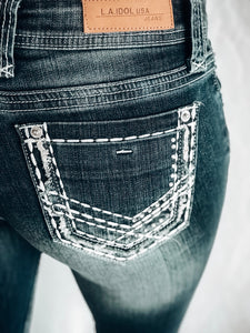 L.A. IDOL TRAIL HEAD BOOTCUT JEANS