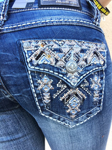 GRACE IN L.A. PIONEER BOOTCUT JEANS - decadenceboutique - 1