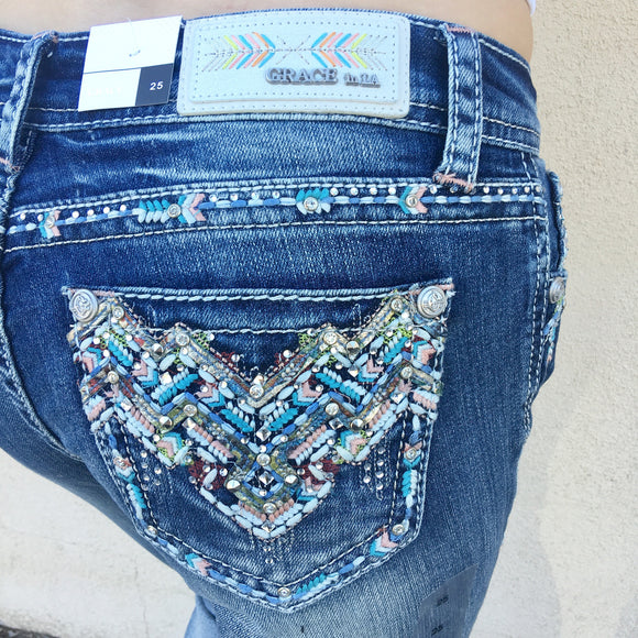 GRACE IN L.A. ARIZONA TRAILS BOOTCUT JEANS - decadenceboutique - 1