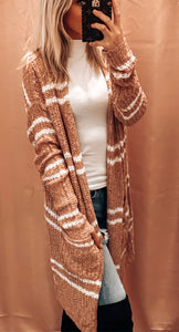 BABY IT'S COLD OUTSIDE STRIPED CARDI IN BLUSH
