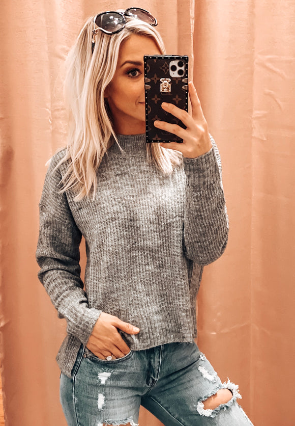 TRUST IN ME SWEATER IN GREY