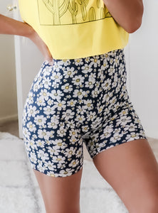 FULL BLOOM BIKER SHORTS