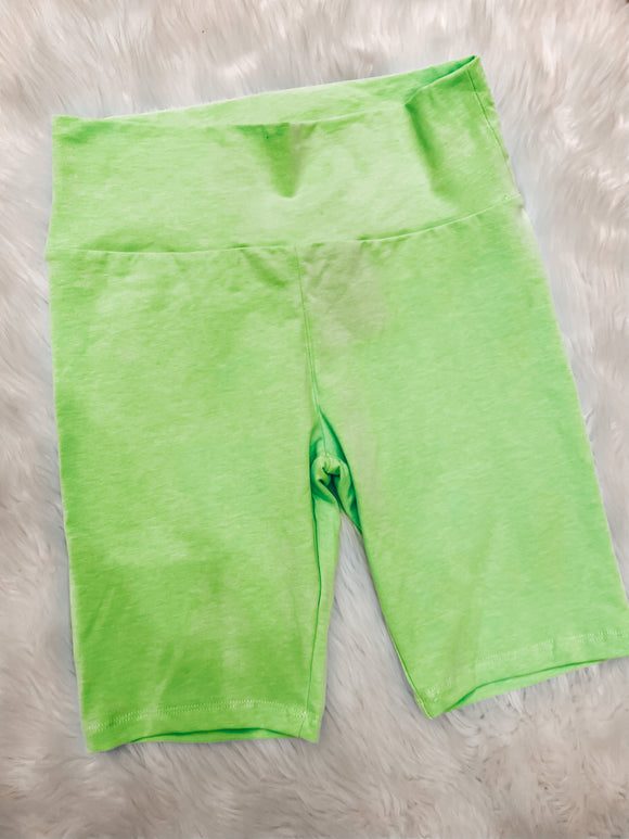 Chasing the Day Biker shorts Neon Green