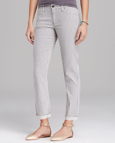 JOE'S SKINNY ANKLE BLUEBERRY STRIPE JEANS