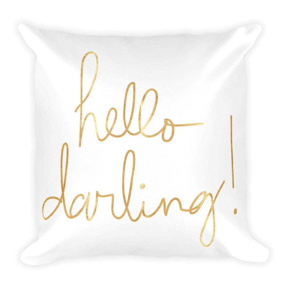 HELLO DARLING! Square Pillow - decadenceboutique