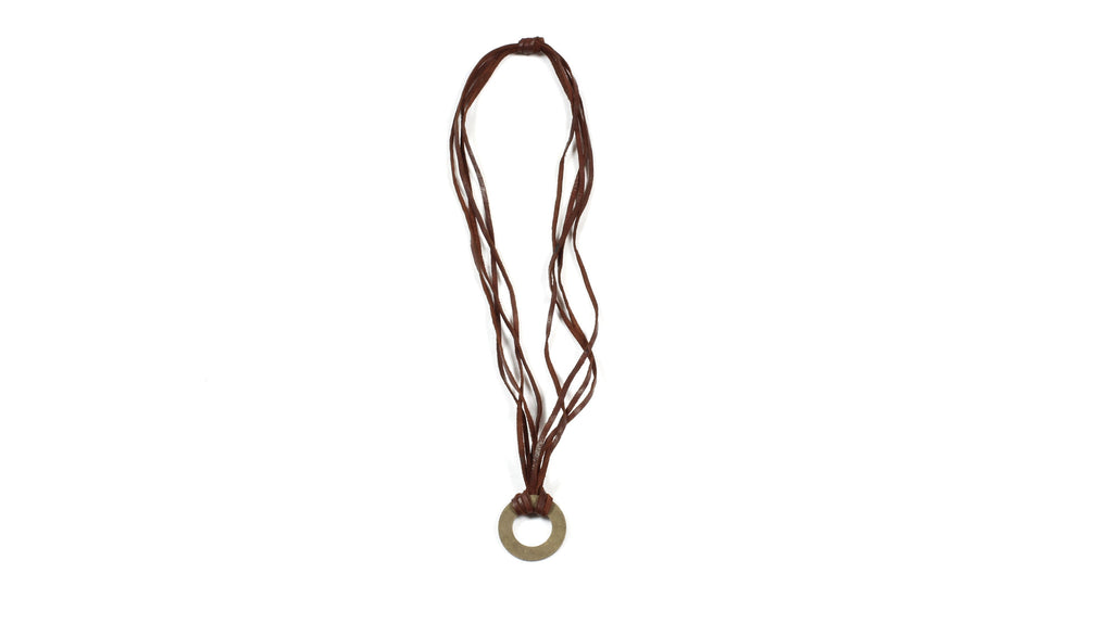 Washer Brass Necklace