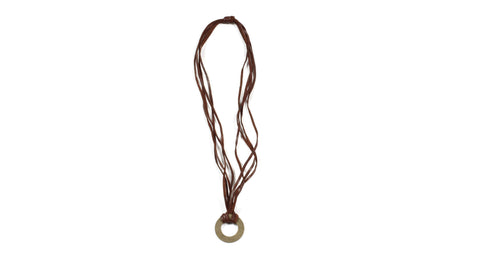 Brass Washer Necklace