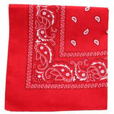 RED PAISELY PATTERN BANDANA