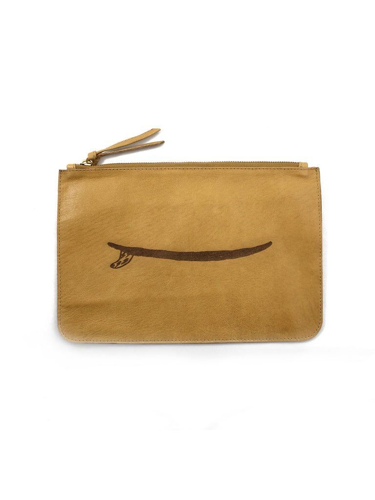 SINGLE FIN LEATHER CLUTCH