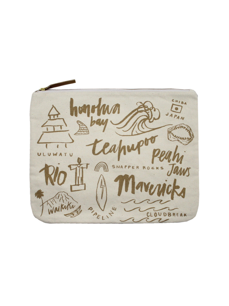 SURF SAFARI CANVAS CLUTCH