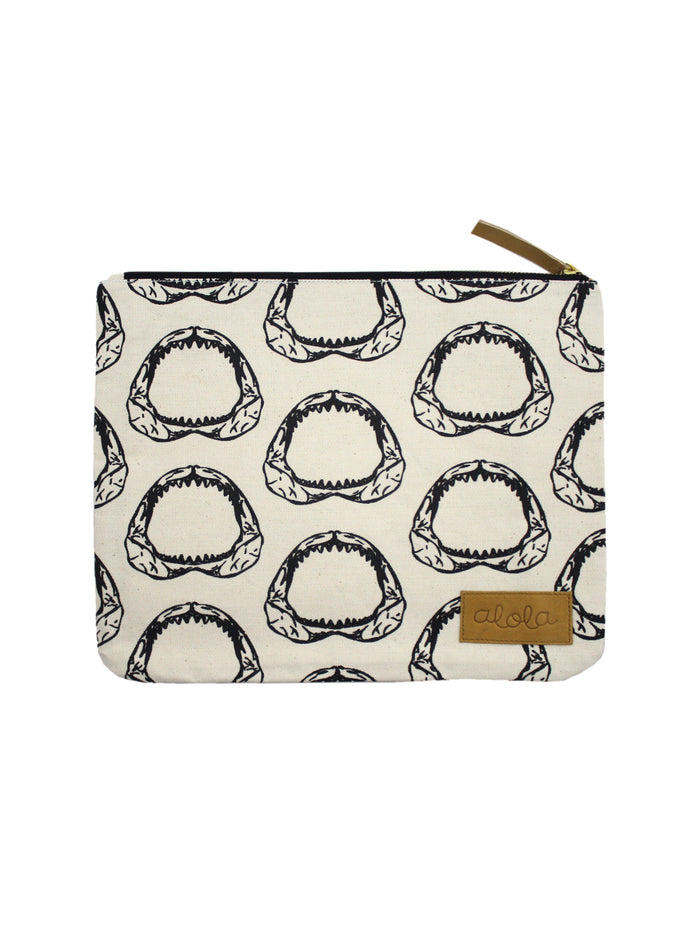 JAWSOME CANVAS CLUTCH