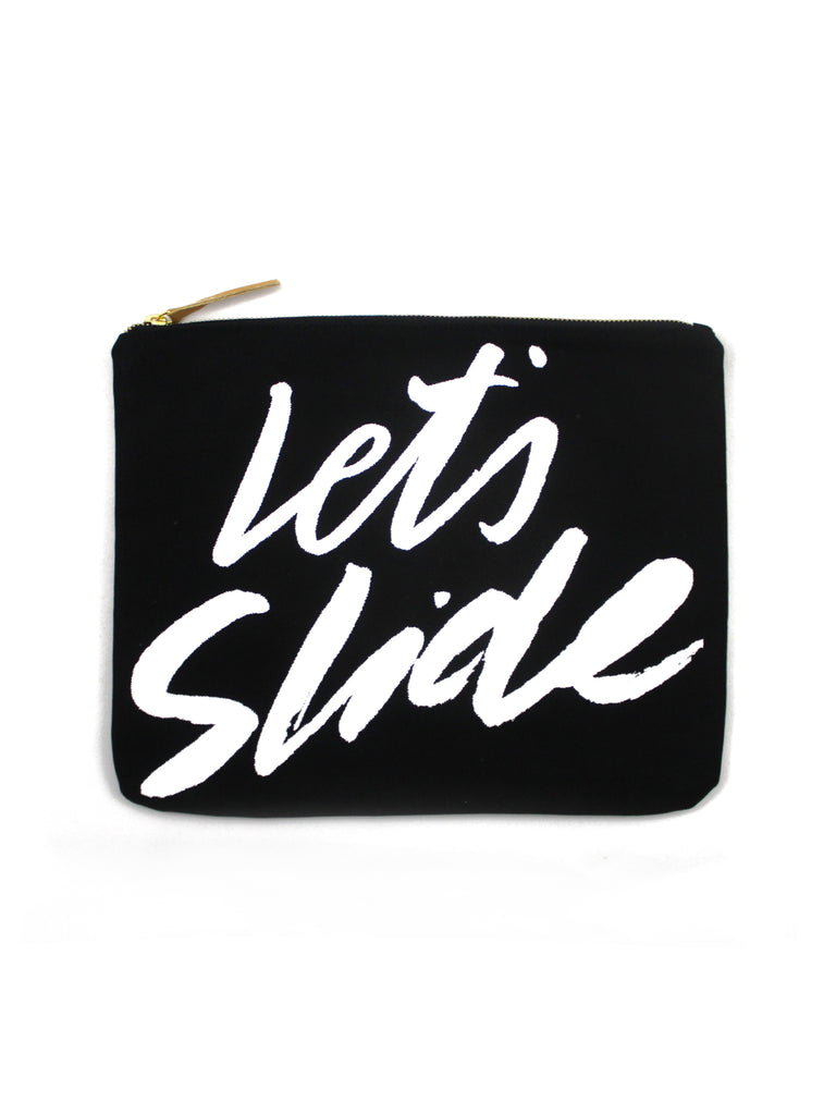 LETS SLIDE | SINGLE FIN CANVAS CLUTCH