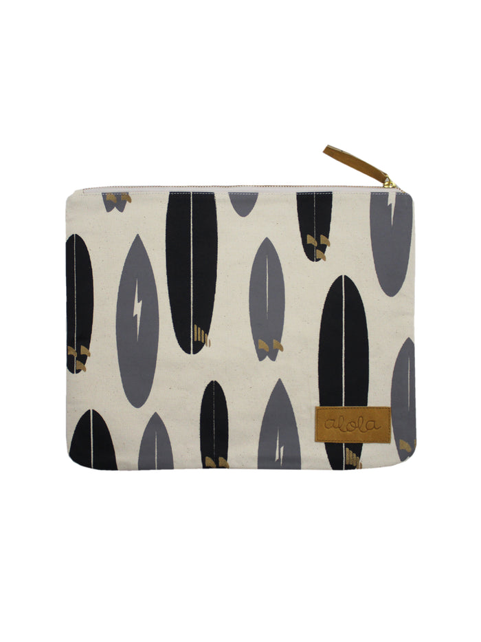 SURFBOARD QUIVER CANVAS CLUTCH