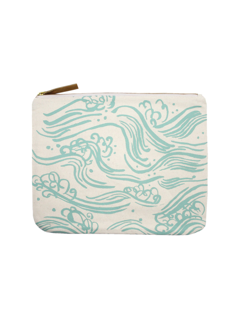 WAVES CANVAS CLUTCH
