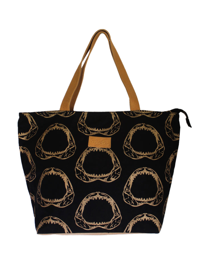 JAWSOME CANVAS BEACH TOTE