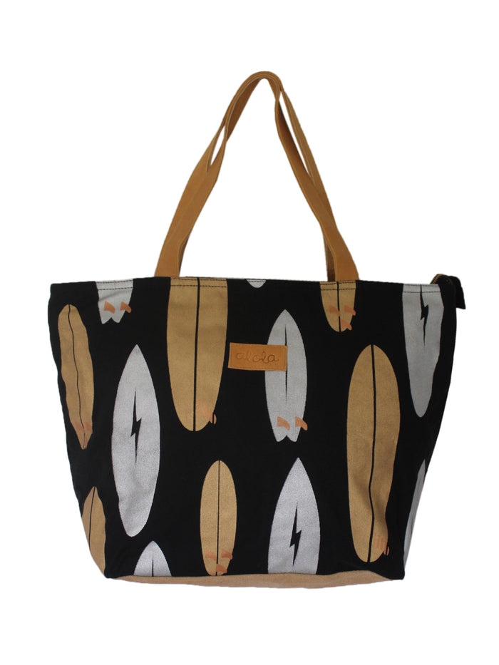 SURFBOARD QUIVER CANVAS BEACH TOTE