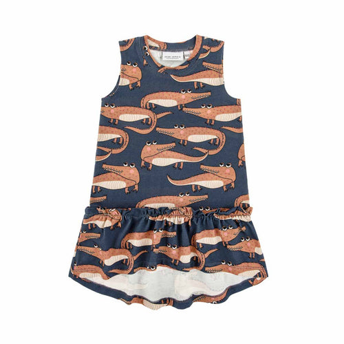 Dear Sophie Navy Crocodile Dress