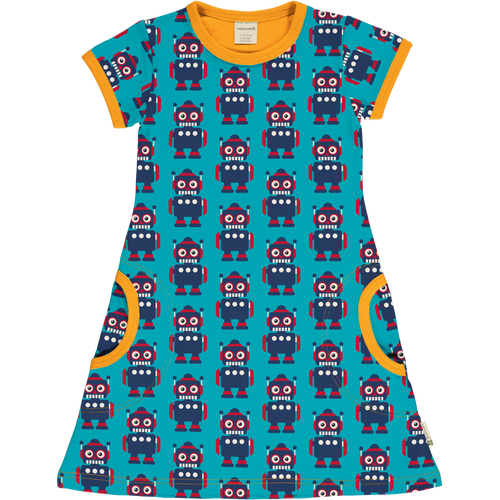 Maxomorra Classic Robot Short Sleeve Dress