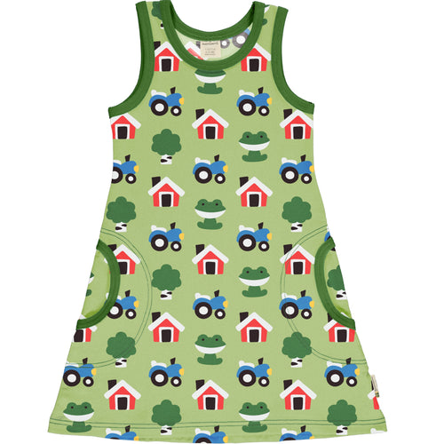 Maxomorra Forest Farm Sleeveless Dress