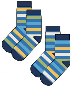 Maxomorra Socks 2 Pair - Ocean