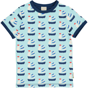 Maxomorra Sailboat Short Sleeve Top