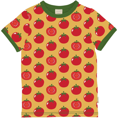 Maxomorra Tomato Short Sleeve Top