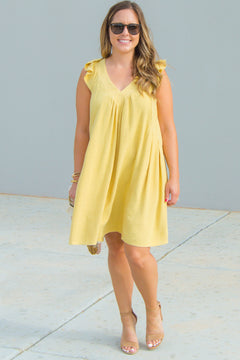 You're My Sunshine Linen Dress