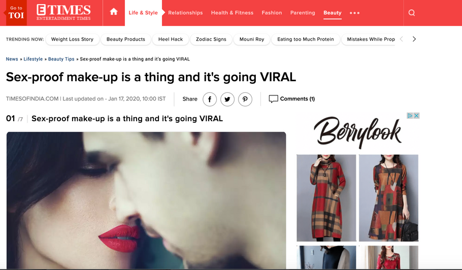 "India Times Calls Heaux Cosmetics ""Viral"" and ""Breaking The Internet"""