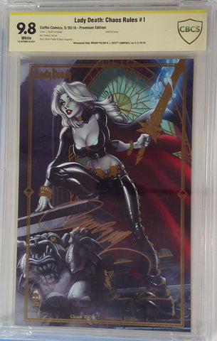 Lady Death: Chaos Rules #1 9.8 CBCS Yellow Label