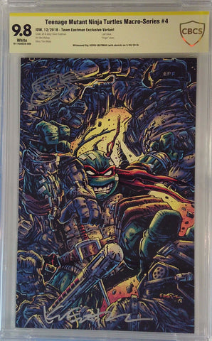 Teenage Mutant Ninja Turtles Macro-Series #4 9.8 CBCS Yellow Label