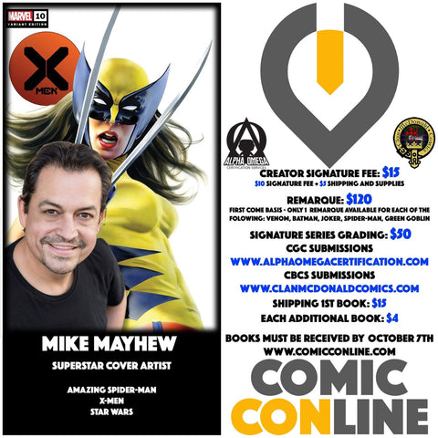MIKE MAYHEW COMIC CONLINE SIGNATURE OPP