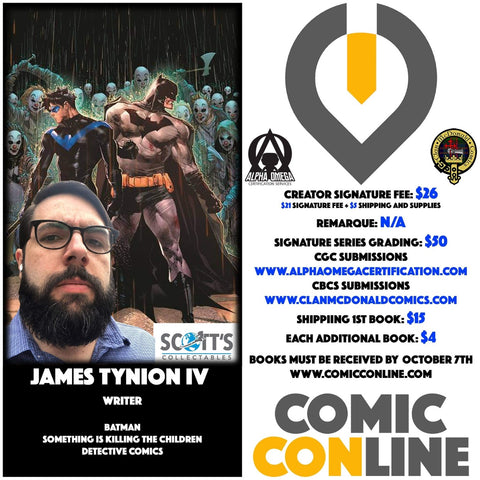 JAMES TYNION IV COMIC CONLINE SIGNATURE OPP