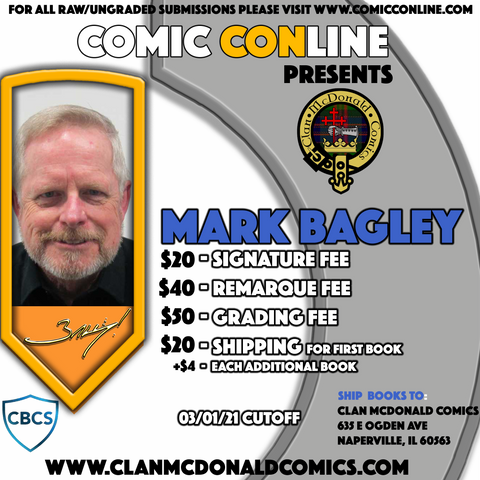 MARK BAGLEY COMIC CONLINE SIGNATURE OPP