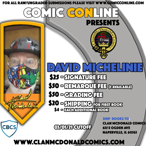 DAVID MICHELINIE COMIC CONLINE SIGNATURE OPP
