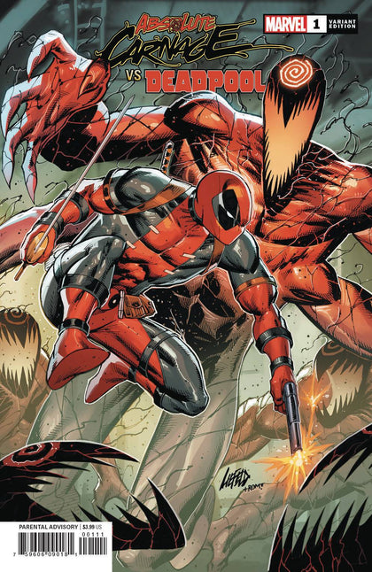 ABSOLUTE CARNAGE VS DEADPOOL #1 (OF 3) LIEFELD CONNECTING VA
