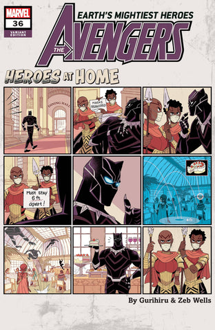 AVENGERS #36 GURIHIRU HEROES AT HOME VAR