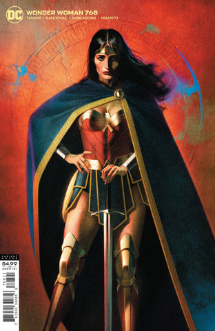 WONDER WOMAN #768 CARD STOCK JOSHUA MIDDLETON VAR ED