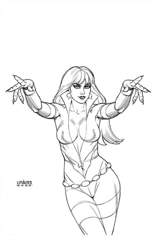 VAMPIRELLA DARK POWERS #5 30 COPY LINSNER B&W VIRGIN INCV