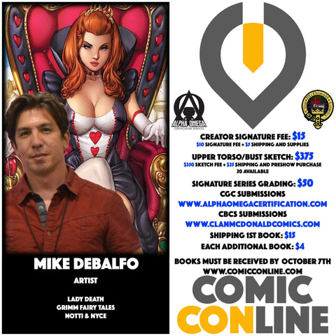 MIKE DEBALFO COMIC CONLINE SIGNATURE OPP