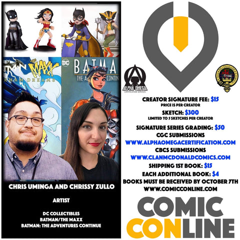 CHRIS UMINGA AND CHRISSY ZULLO COMIC CONLINE SIGNATURE OPP