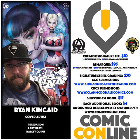 RYAN KINCAID COMIC CONLINE SIGNATURE OPP