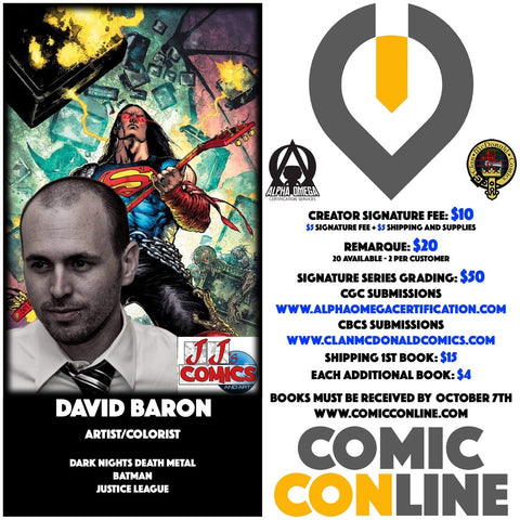 DAVID BARON COMIC CONLINE SIGNATURE OPP