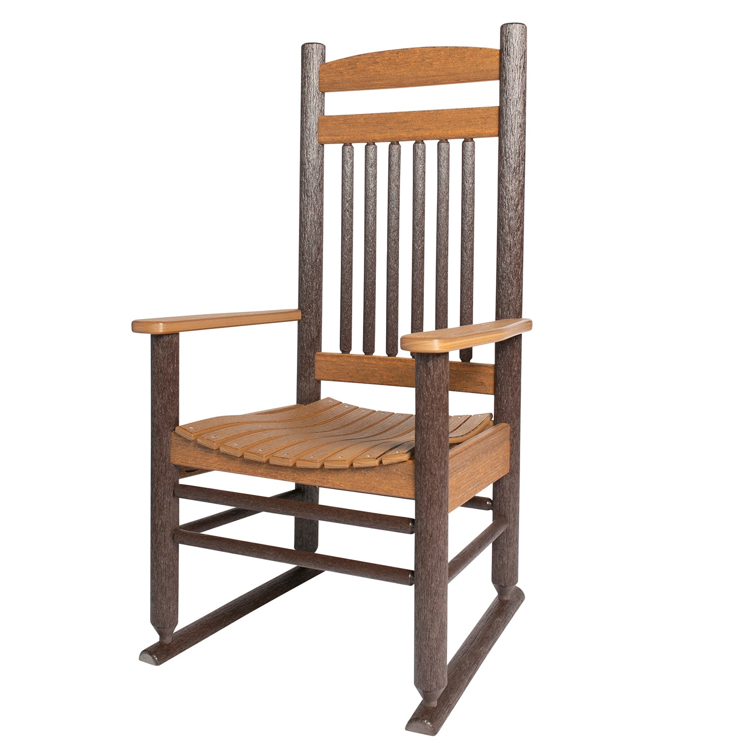 Americana Rustic Polylog Captain's Dining Chair