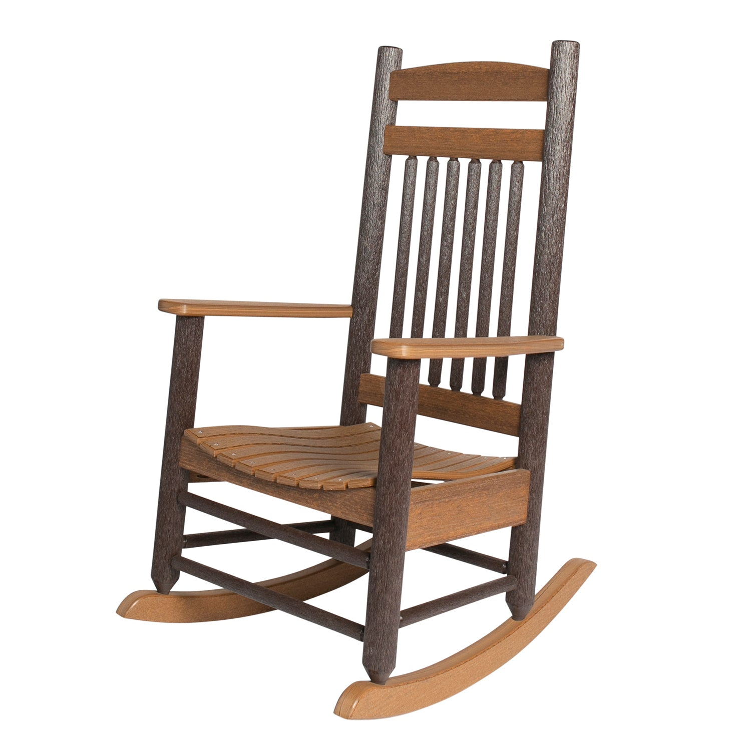Americana Rustic PolyLog Rocking Chair