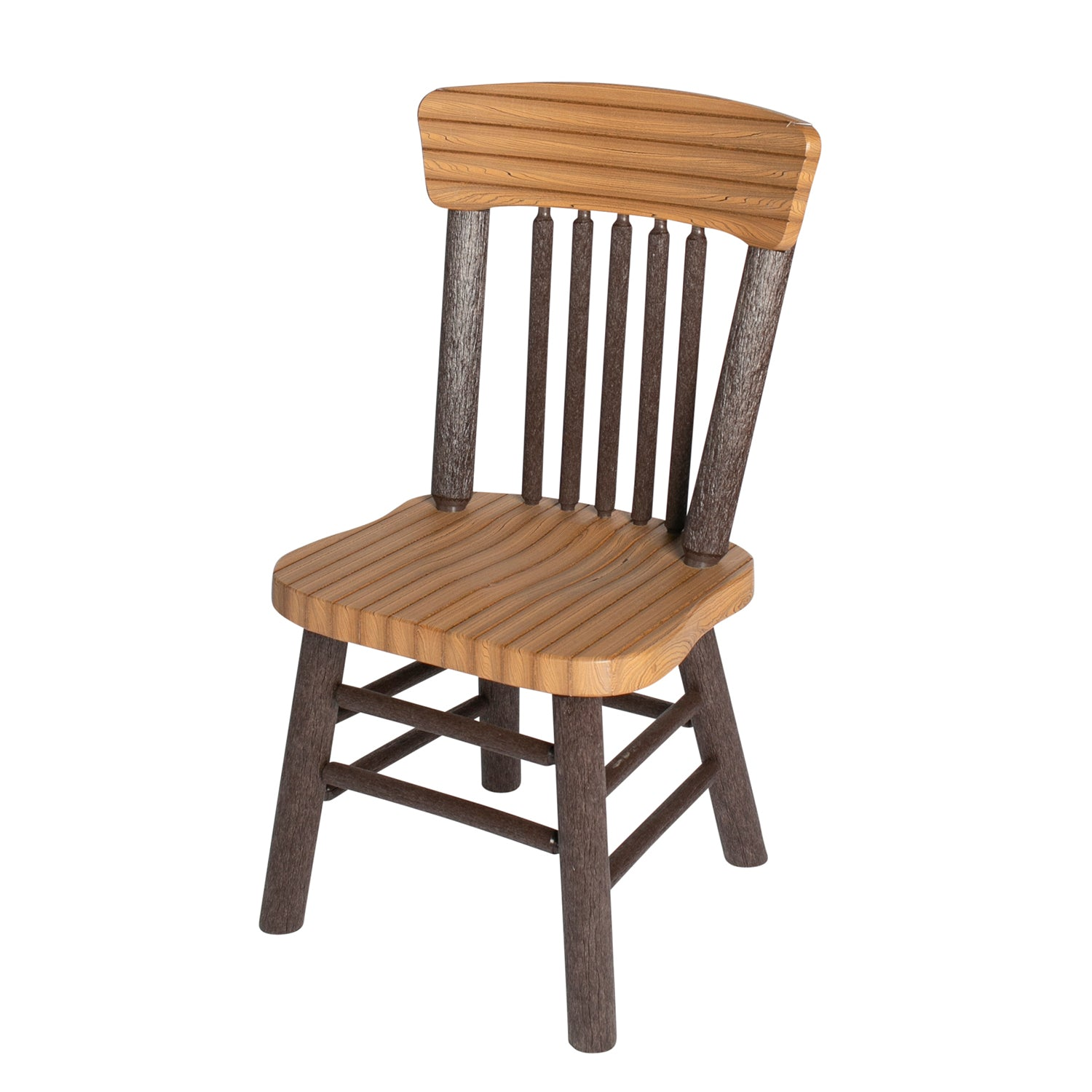 Great Woods Rustic PolyLog Dining Height Side Chair